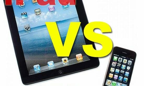 ipad iphone confronto