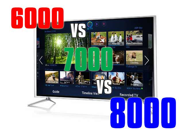 Samsung Smart tv 7000 Samsung Smart tv Differenze