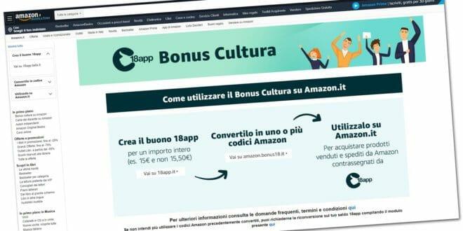 Amazon bonus cultura 18app