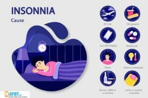 Cause insonnia infografica